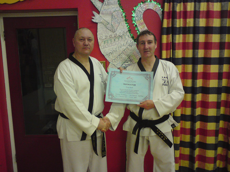Gary Small receives his instructors certificate